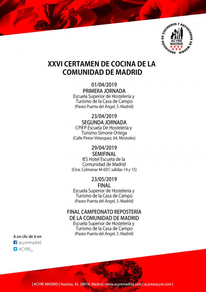 Certamen de cocina de la Comunidad de Madrid