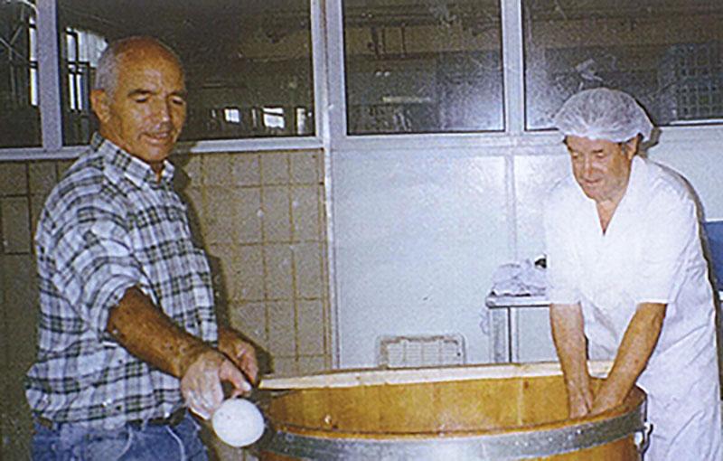 Haciendo queso en Lácteas del Jarama