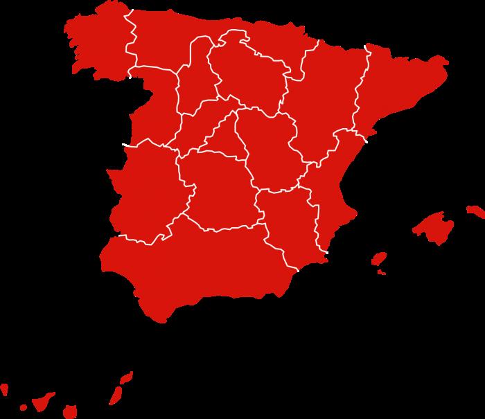 Mapa de quesos de España producidos por Lacteas del Jarama
