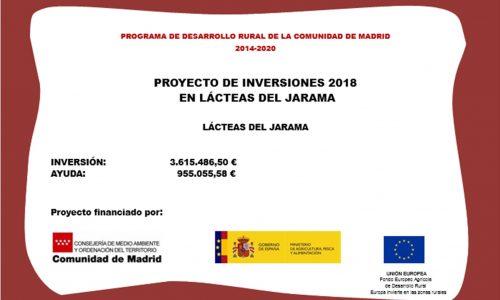 Subvención para reformar las instalaciones de Lacteas del Jarama